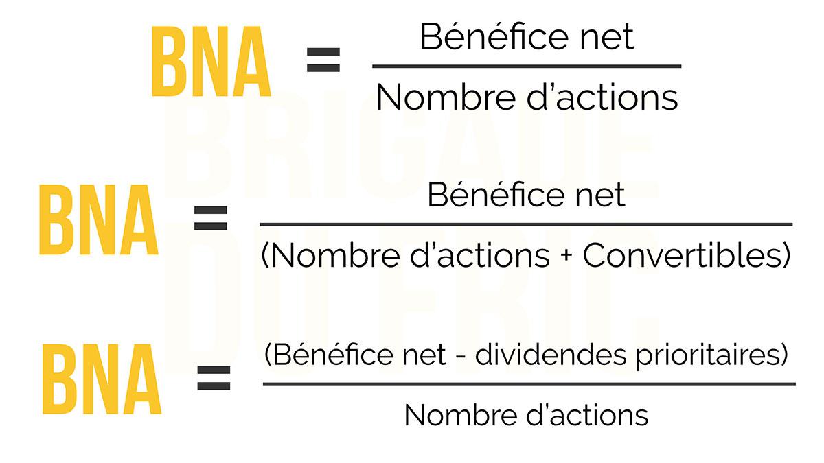 Calculs du BNA