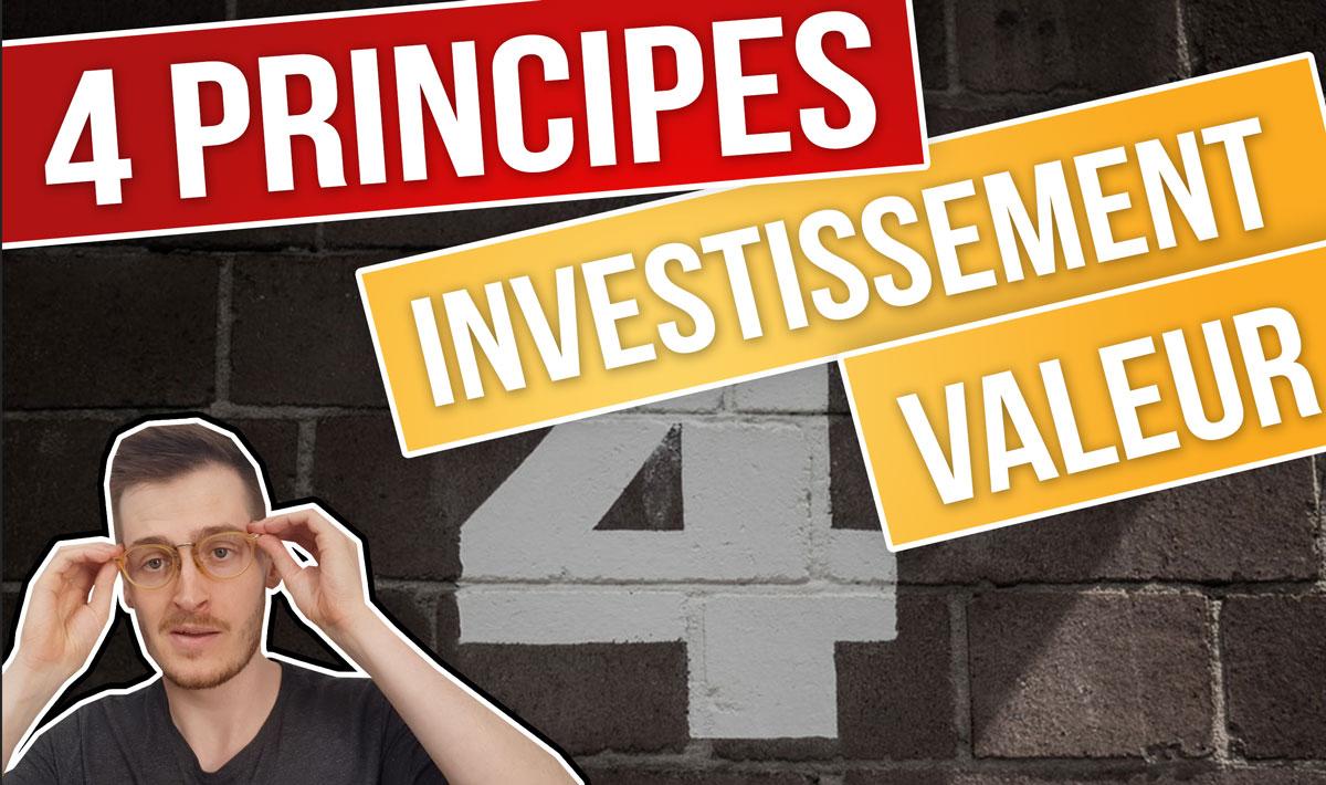 Principes de l'investissement dans la valeur