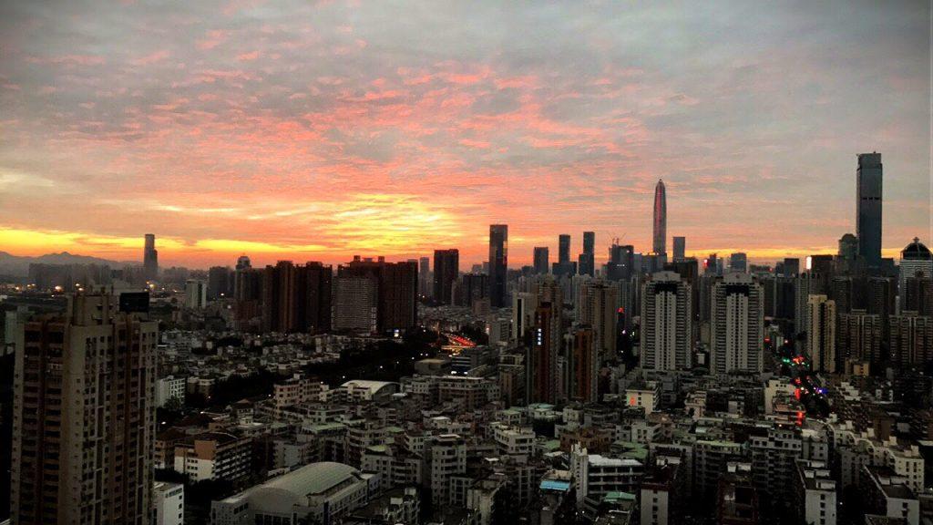 Couché de soleil Shenzhen
