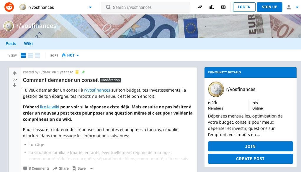 Reddit : Vos Finances