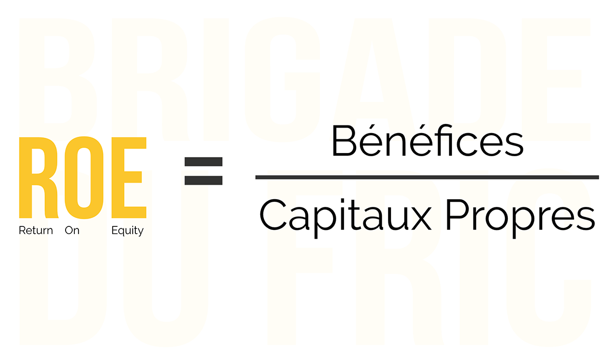 Calcul de la rentabilité des capitaux propres