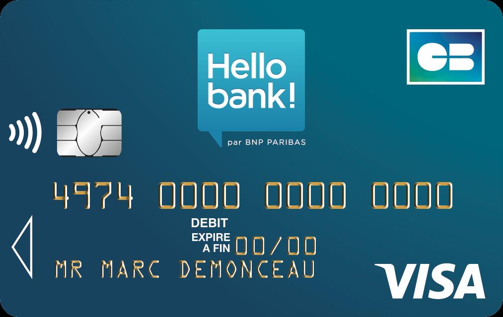 Carte classique Hello bank