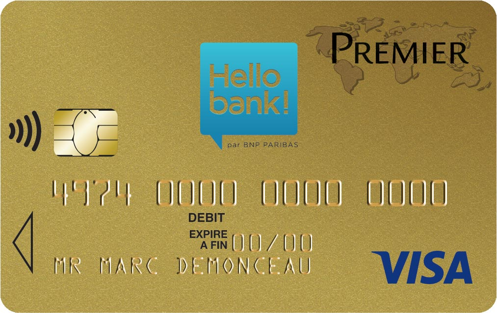 Carte gold Hello bank
