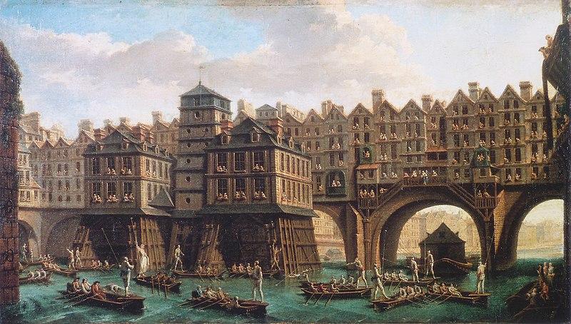 Joute pont au change de Raguenet - 1751