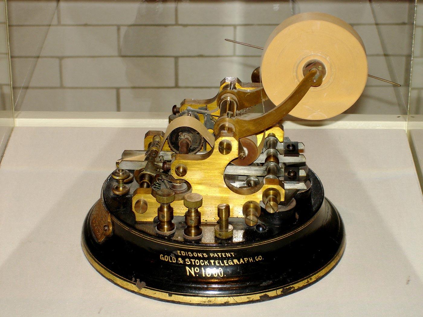Histoire de la bourse : Edison Stock Ticker 1869