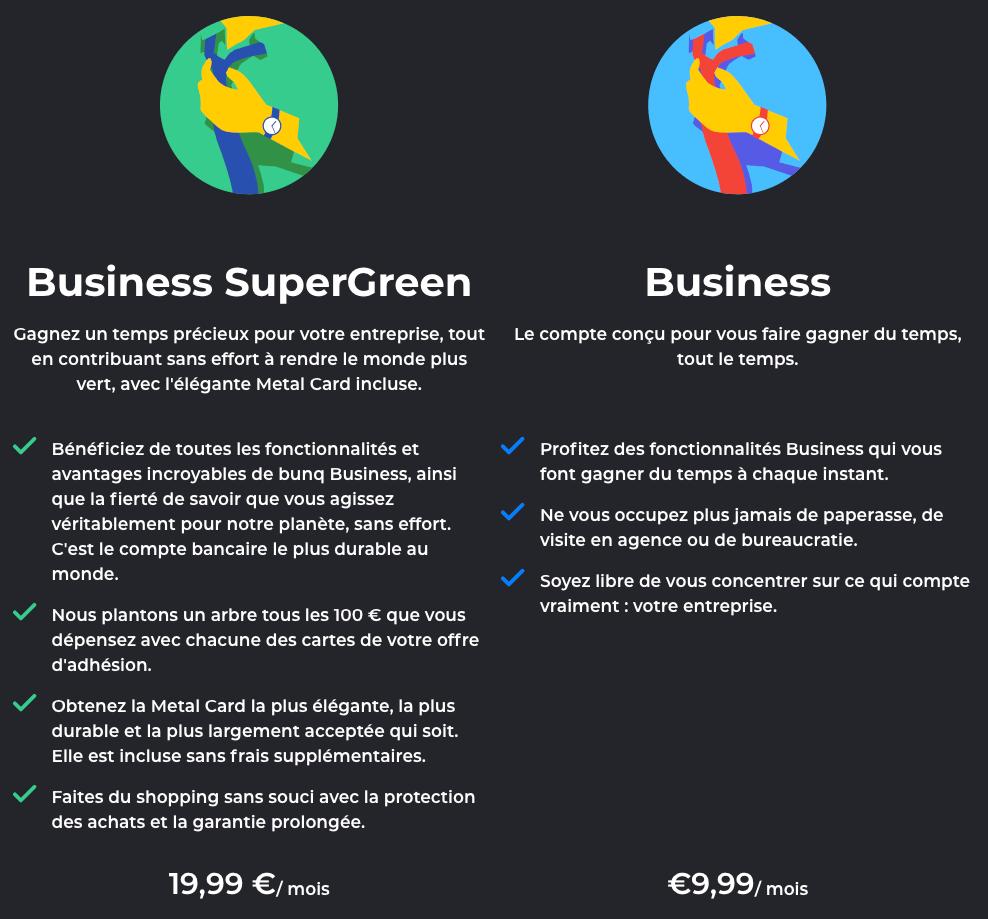 bunq avis compte business