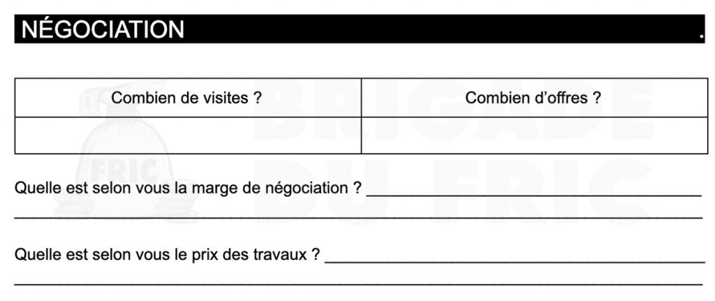 Questions pour la négociation en immobilier