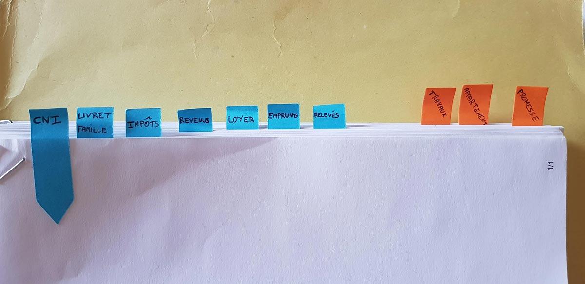 Organisation de mon dossier bancaire papier